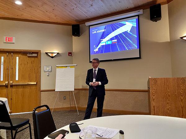 SynFiny CEO gives a presentation